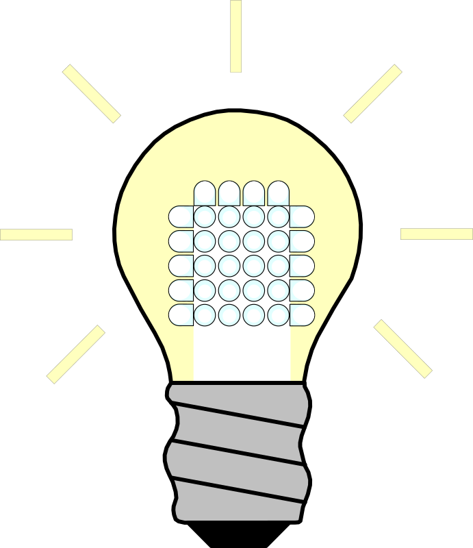 Light Bulb LED On