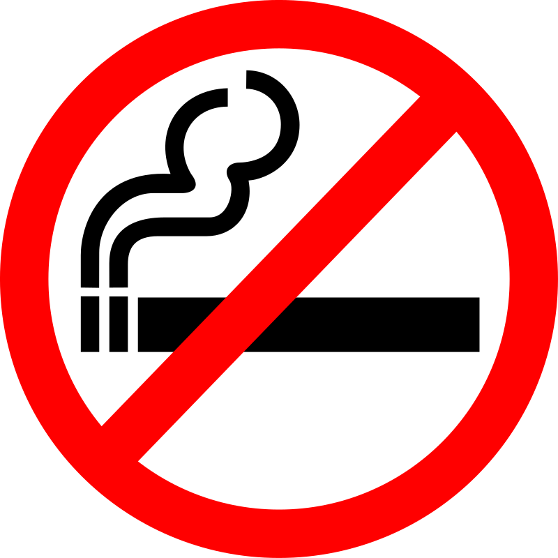"Sign ""No Smoking"""