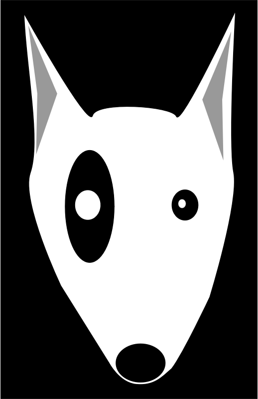 Bullterrier head, bujung,Bull terrier cartoon,dog Bullterrier