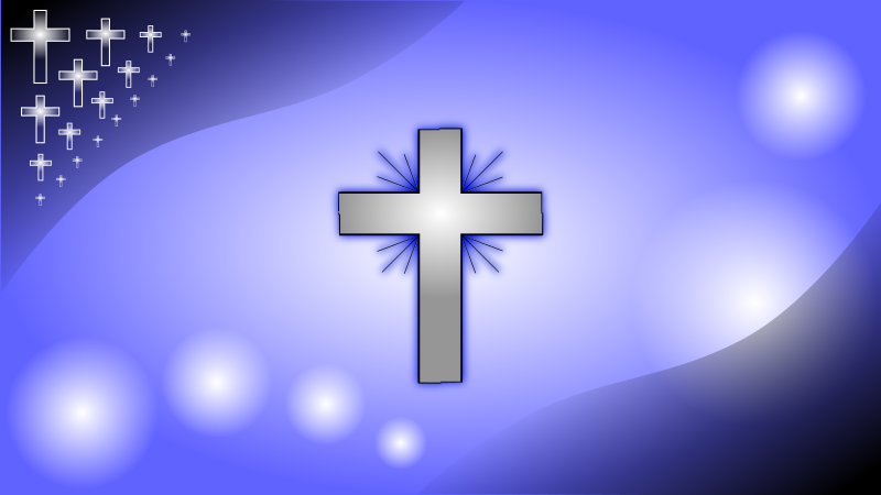 Iceblue Glowing Cross Wallpaper