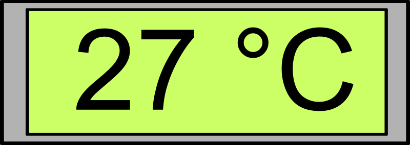 Digital Display with Temperature 27°C