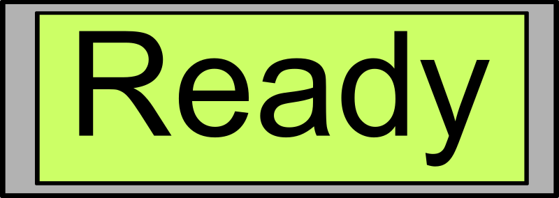 "Digital Display with ""Ready"" text"