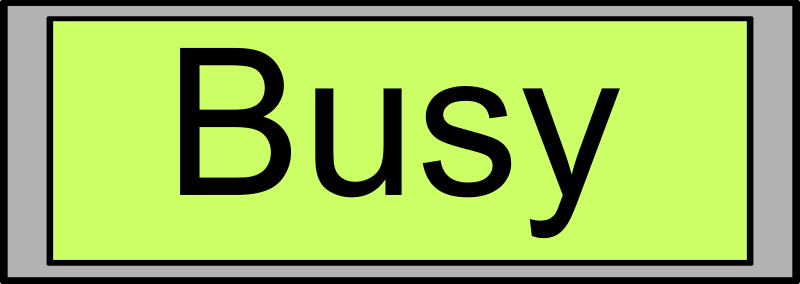 "Digital Display with ""Busy"" text"