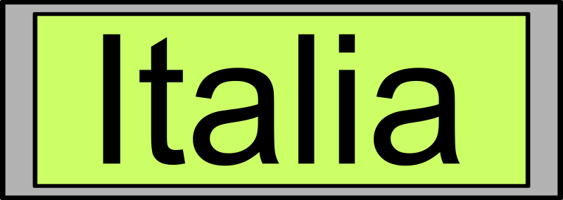 "Digital Display with ""Italia"" text"