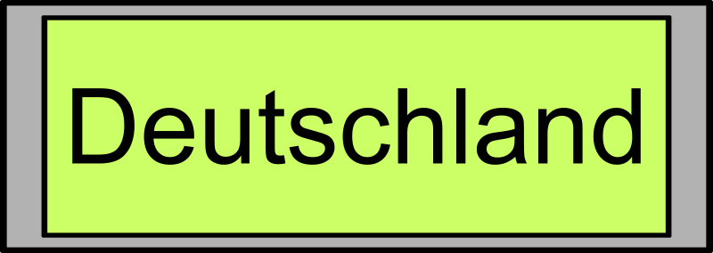 "Digital Display with ""Deutschland"" text"