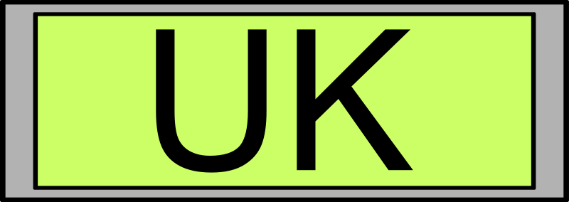 "Digital Display with ""UK"" text"
