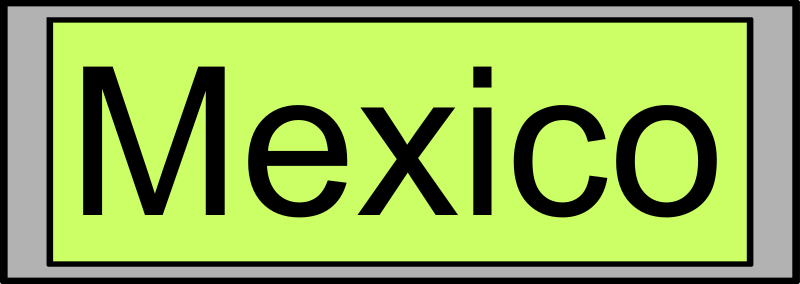 "Digital Display with ""Mexico"" text"