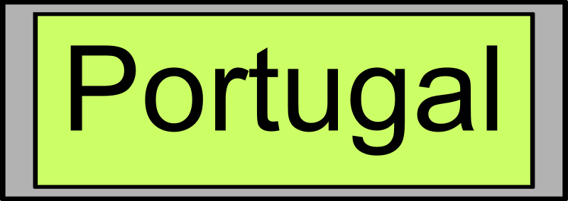 "Digital Display with ""Portugal"" text"
