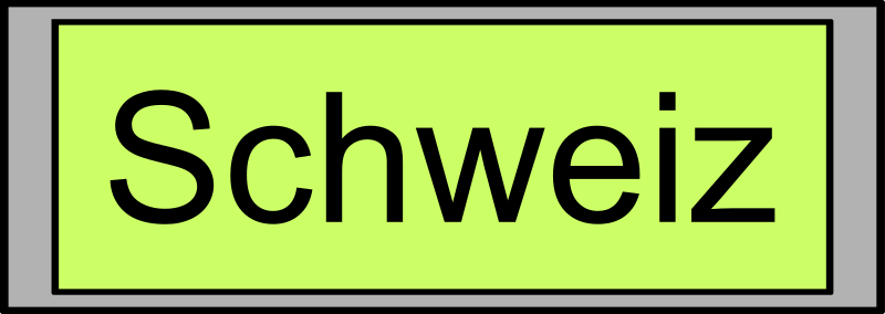 "Digital Display with ""Schweiz"" text"