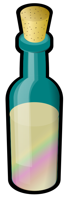 Bottle of Colored Sand, with Cork
