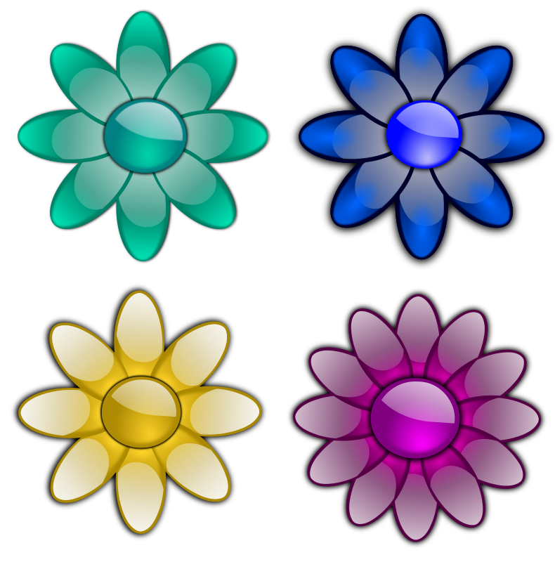 Glossy flowers 3