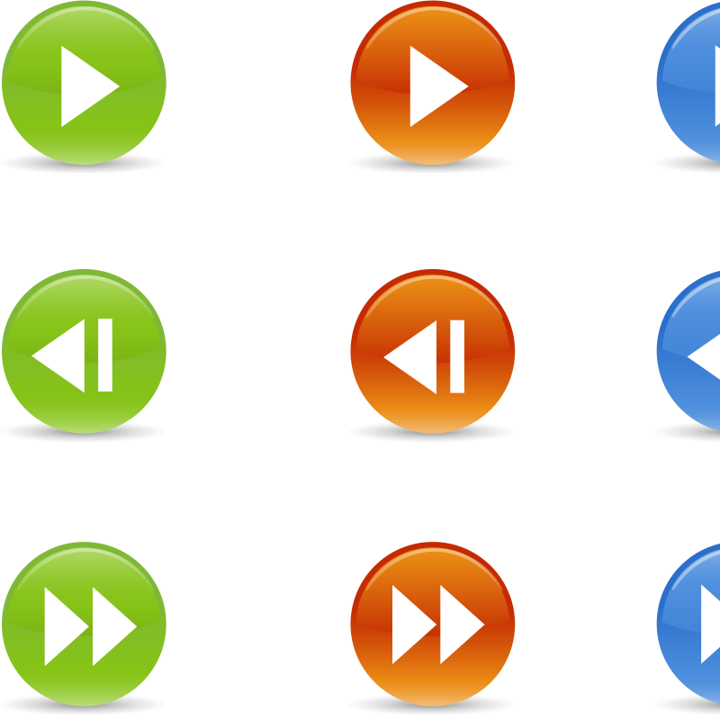 Round Buttons Symbols