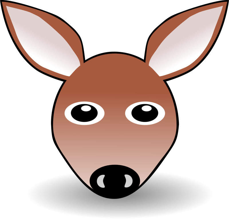 Funny Fawn Face Brown Cartoon