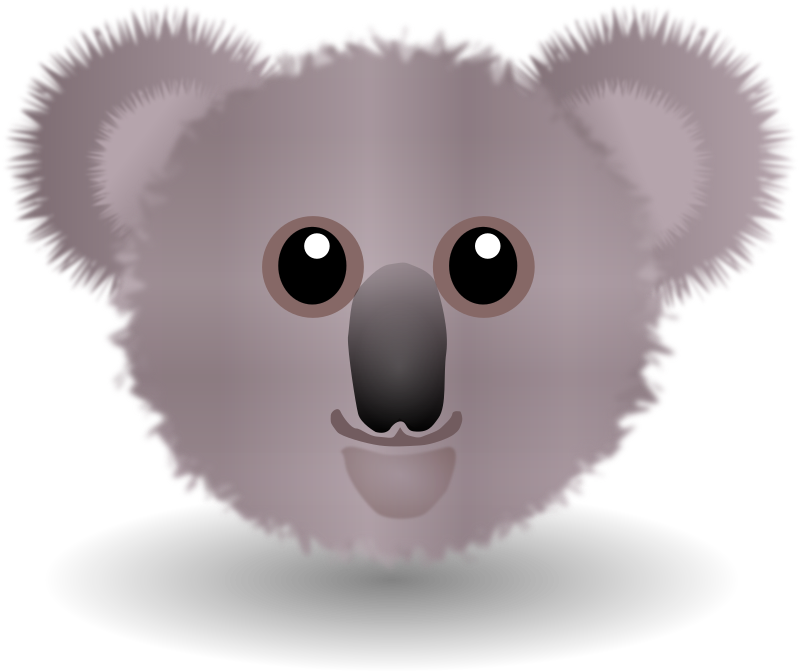 Funny Koala Face Cartoon
