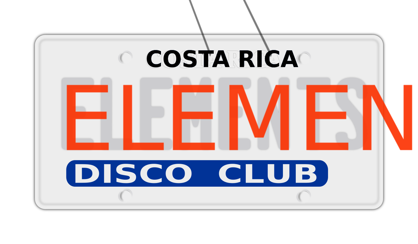 Placa de carro elements