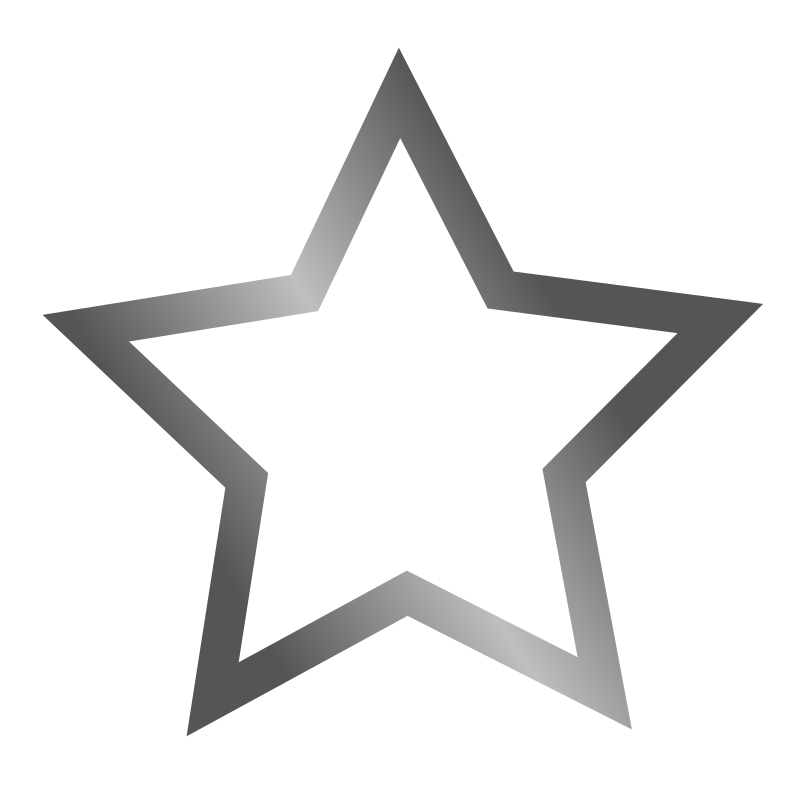 Outlined star icon