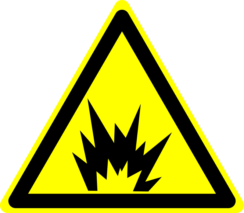 Hazard Warning Sign: Explosion