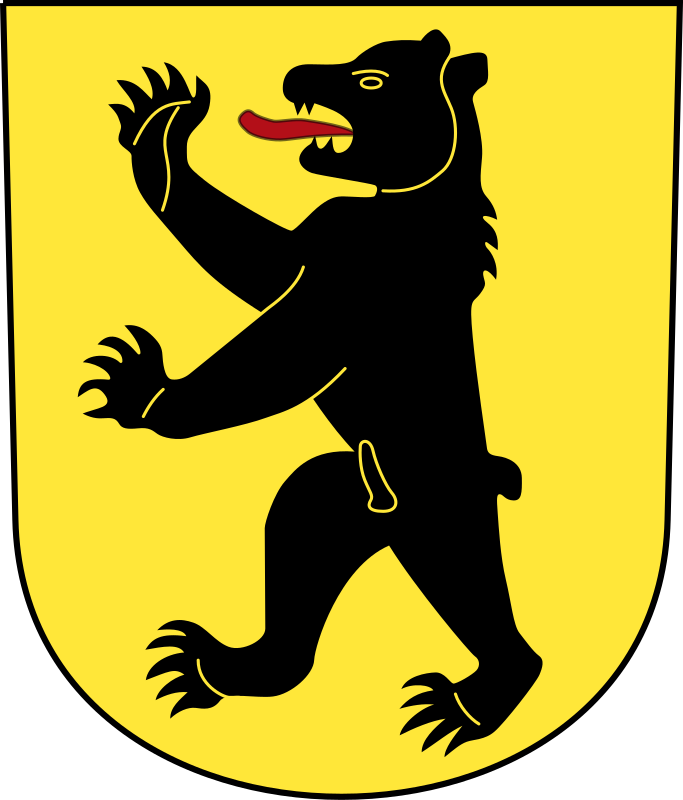 Swiss Bretzwil Coat of Arms as a Shield