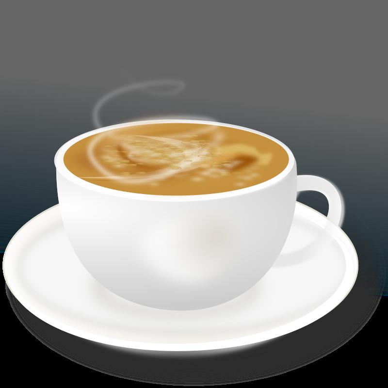 hot coffee white background - photo #31