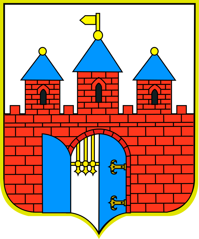 Bydgoszcz - coat of arms by warszawianka - Coat of arms of a Polish city of Bydgoszcz. Public domain. Submitted to Wikimedia Commons by user Bastianow.