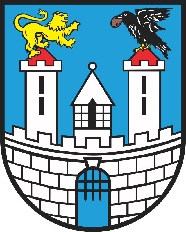 Czestochowa - coat of arms by warszawianka - Coat of arms of a Polish city of Czestochowa. Public domain. Submitted to Wikimedia COmmons by user Poznaniak.
