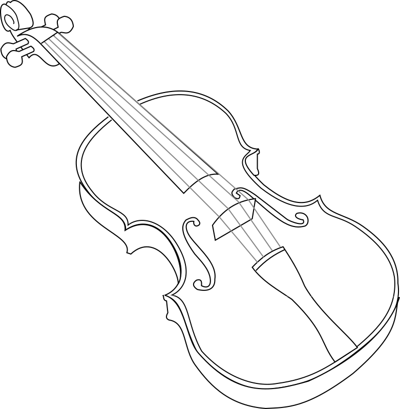 violin by papapishu - My line-art violin colored with a gradient.