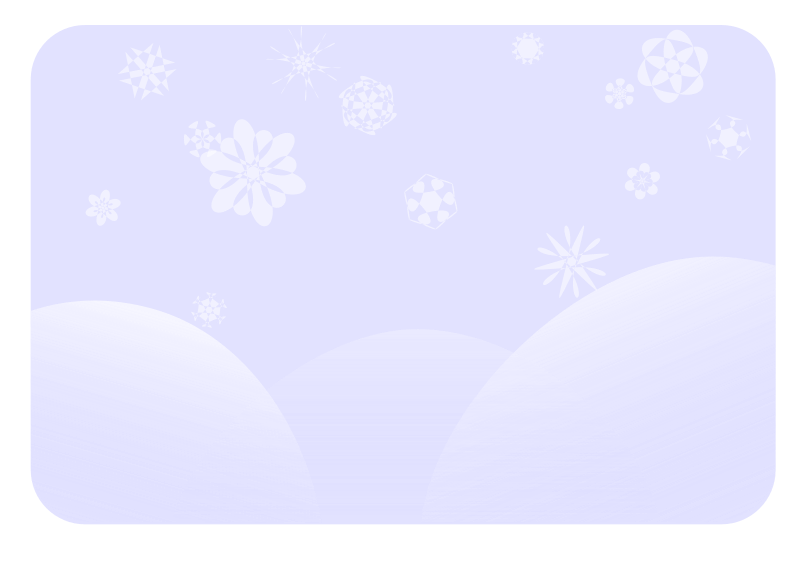 soft blue snowflakes by gem - Snow falling on a soft blue winter scenery.