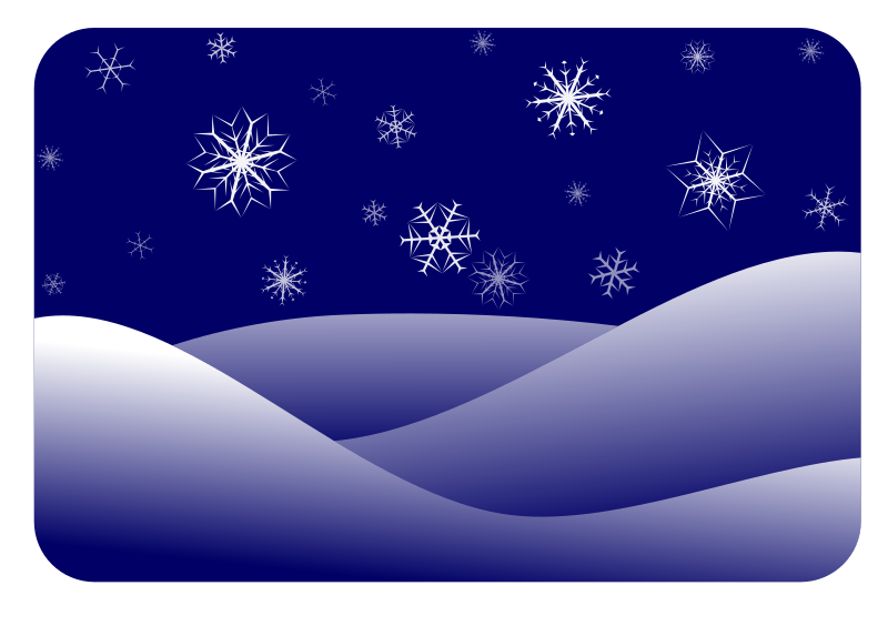 winter scenery by gem - Another winter scenery. This time with kinda more realistic snowflakes and hills. You can change the color by just changing the background-square, since all other colors are just different transparencies of white.