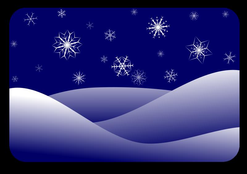 clipart snow scene - photo #3