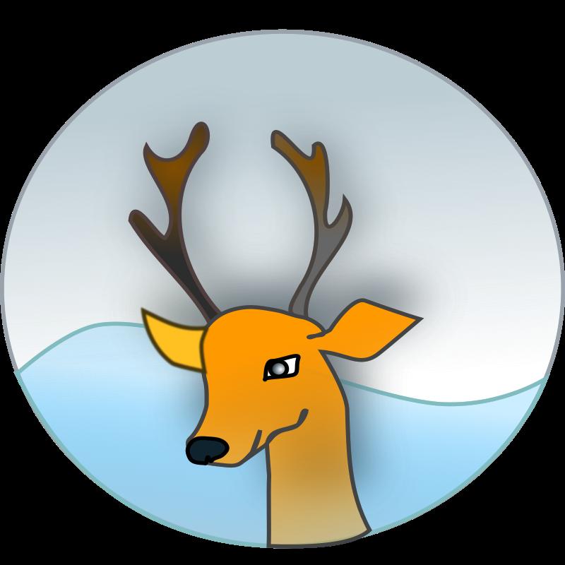 Clipart - reindeer