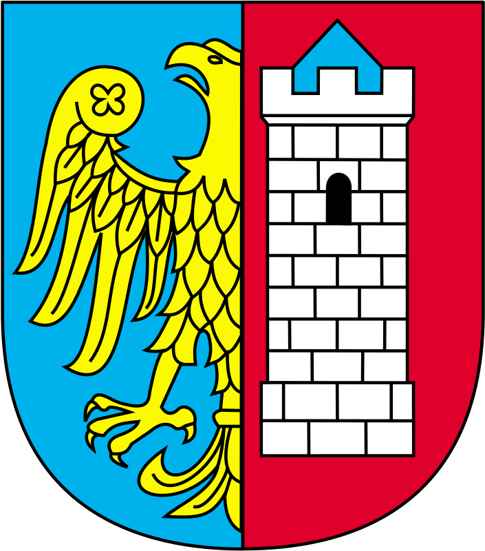 Gliwice - coat of arms by warszawianka - Coat of arms of Polish city of Gliwice. Public domain. Submitted to Wikimedia Commons by user Pojdulos.
