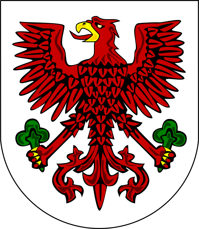 Gorzow Wilekopolski - coat of arms by warszawianka - Coat of arms of Polish city of Gorzow Wielkopolski. Public domain. Submitted to Wikimedia Commons by uder Shazz.