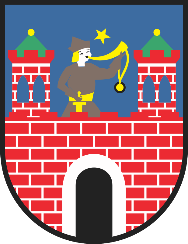 Kalisz - coat of arms by warszawianka - Coat of arms of Polish city of Kalisz. Public domain. Submitted to Wikimedia Commons by user Poznaniak.