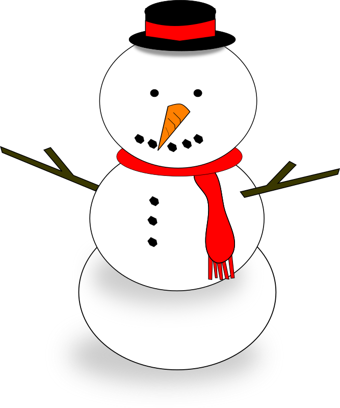 Snowman by algotruneman - snowman with hat and scarf