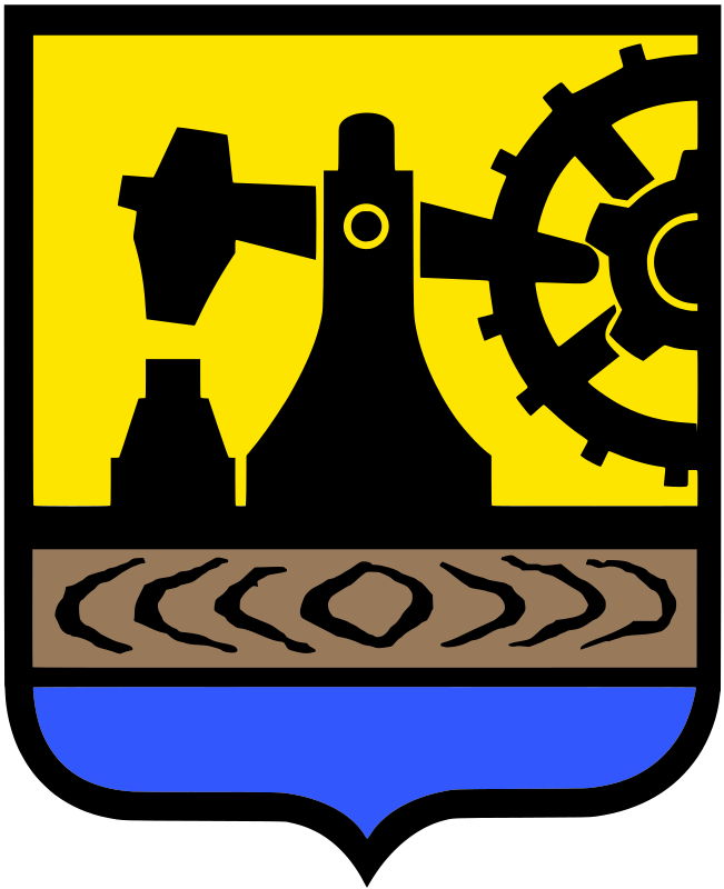 Katowice - coat of arms by warszawianka - Coat of arms of Polish city of Katowice. Public domain. Submitted to Wikimedia Commons by user Pojdulos.