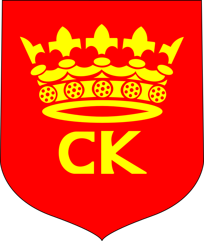 Kielce - coat of arms by warszawianka - Coat of arms of Polish city of Kielce. Public domain. Submitted to Wikimedia Commons by user Vindicator.