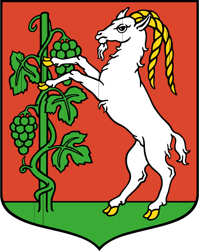 Lublin - coat of arms by warszawianka - Coat of arms of Polish city of Lublin. Public domain. Submitted to Wikimedia Commons by user POznaniak.