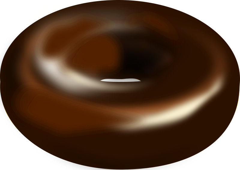 donut by worms_x - Chocolate donut and dark chocolate donut