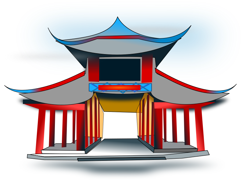 Chinese Architecure by netalloy - chinese theme clip art by netalloy