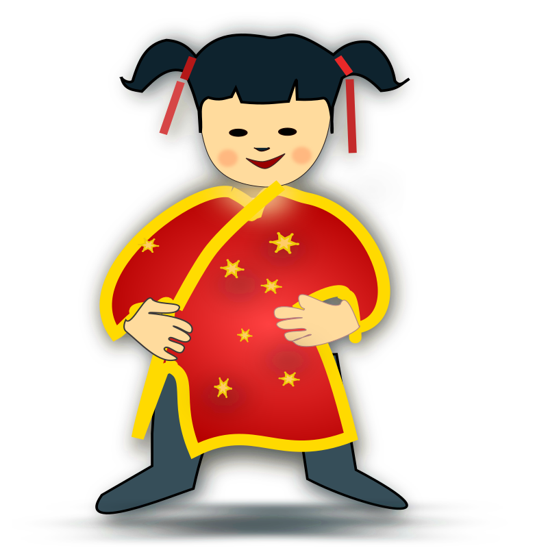 chinese girl icon by netalloy - chinese theme clip art by Netalloy