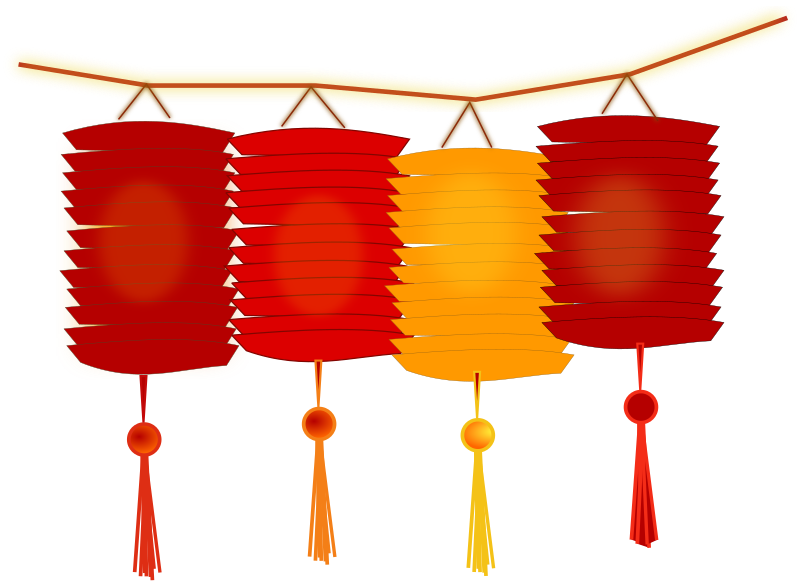 paper lanterns by netalloy - Chinese theme clip art by NetAlloy