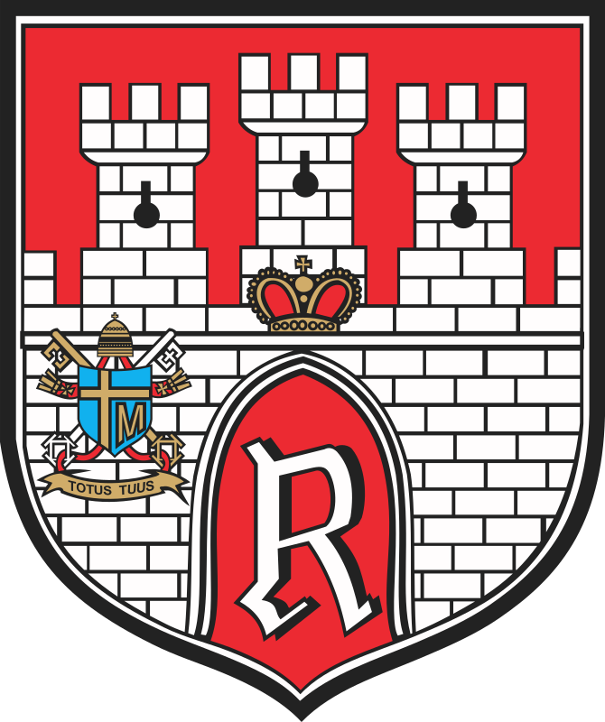 Radom - coat of arms by warszawianka - Coat of arms of Polish city of Radom.  Public domain. Submitted to Wikimedia  Commons by user Poznaniak.