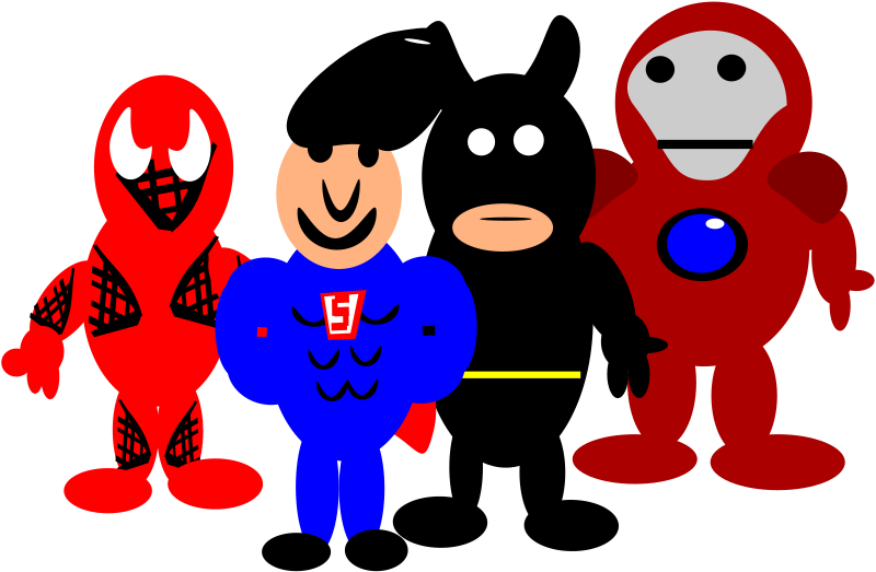 super heroes by PeterBrough