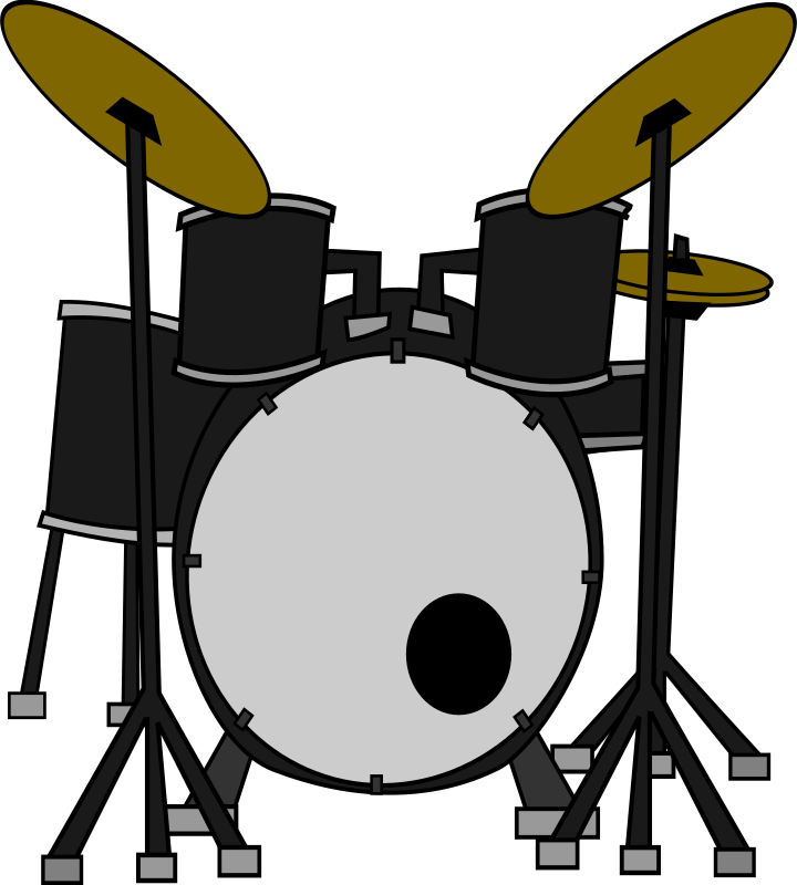Drums by marcelomotta - 4 colored drum set in comic style