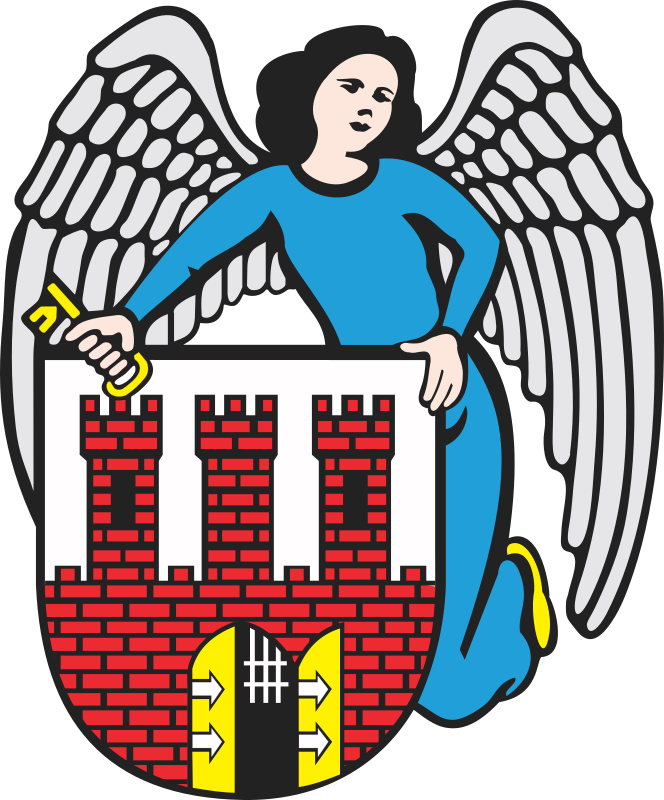 Torun - coat of arms by warszawianka - Coat of arms of Polish city of Torun. Public domain. Submitted to Wikimedia Commons by user Poznaniak.