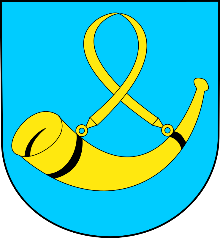 Tychy - coat of arms by warszawianka - Coat of arms of Polish city of Tychy. Public domain. Submitted to Wikimedia Commons by user WarX.