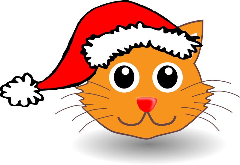 "Funny kitty face with Santa Claus hat by palomaironique - Funny cat face with Santa Claus hat - Drôle de museau de petit chat avec bonnet du Père Noël - Lustige Katze Gesicht mit Weihnachtsmann Hut - Musetto di gattino divertente con berretto del Babbo Natale (partially remixed from ""Martouf"" and ""stephantom"" work)"