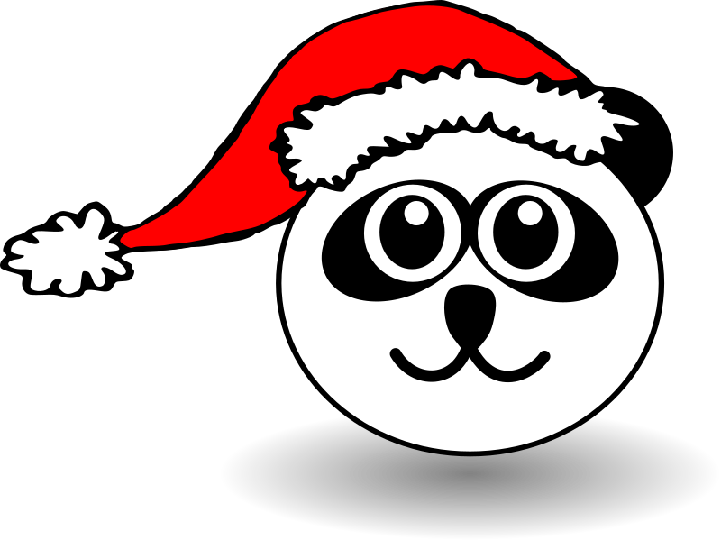 "Funny panda face black and white with Santa Claus hat by palomaironique - Funny panda face black and white with Santa Claus hat - Drôle de museau de panda noir et blanc avec bonnet du Père Noël - Lustige Panda Gesicht Schwarz und Weiss mit Weihnachtsmann Hut - Musetto di panda divertente bianco e nero con berretto del Babbo Natale (partially remixed from ""Martouf"" and ""stephantom"" work)"