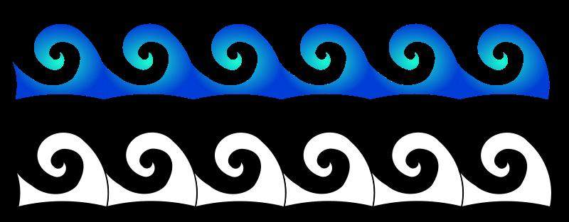 Ocean Wave Outline 30057 | NOTEFOLIO