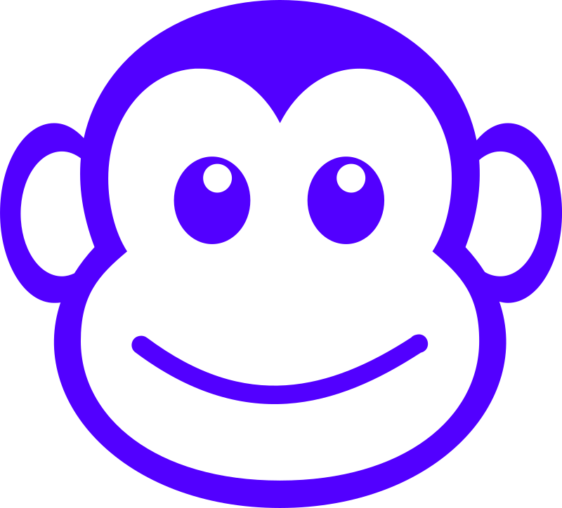 funny monkey face simple path by Martouf - A funny monkey face designed to be used on a t-shirt.